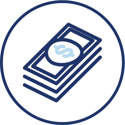 money asset icon republic title