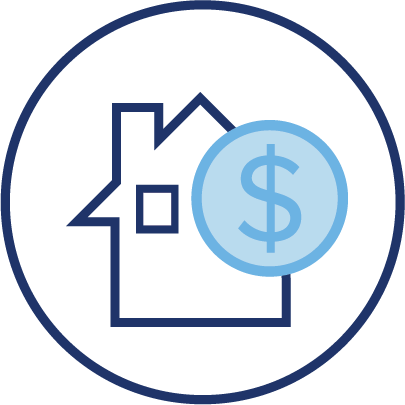 housing money asset icon republic title